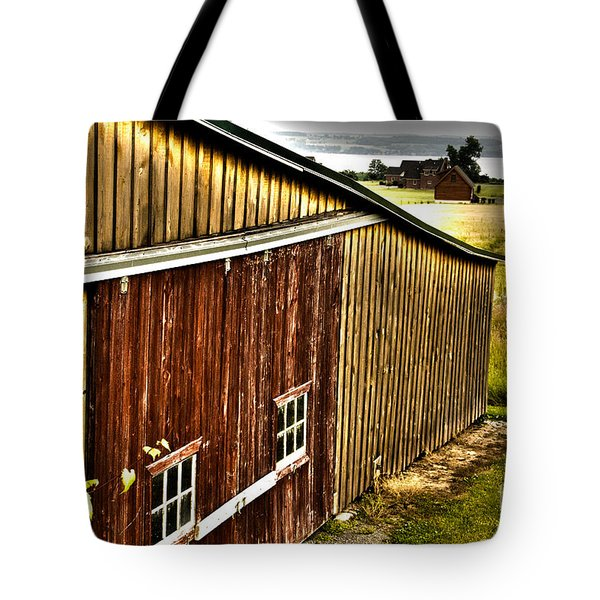 Wine Barn Tote Bag by William Norton