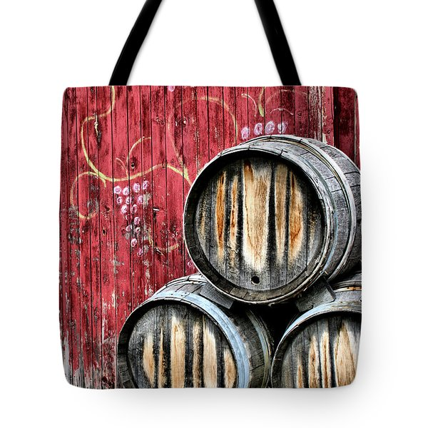 Wine Barrels Tote Bag by Doug Hockman Photography