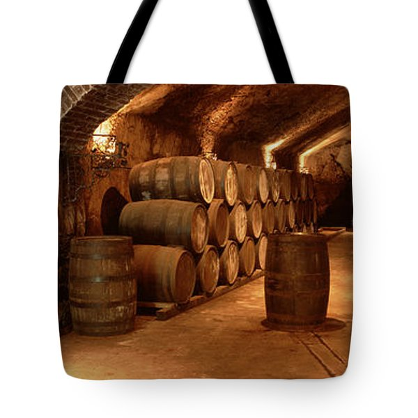 Wine Barrels In A Cellar, Buena Vista Tote Bag