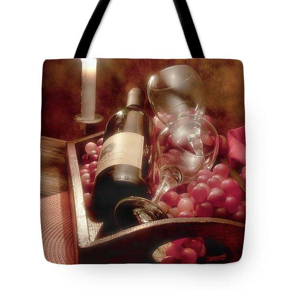Wine By Candle Light II Tote Bag by Tom Mc Nemar
