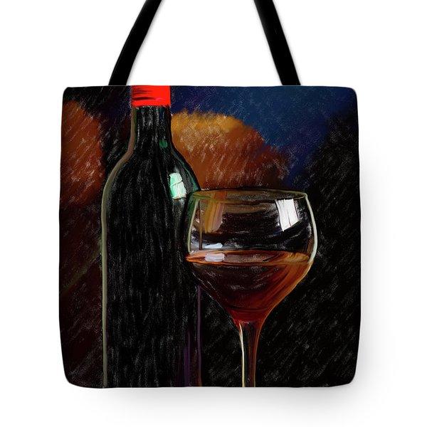 Wine Cellar 01 Tote Bag by Wally Hampton