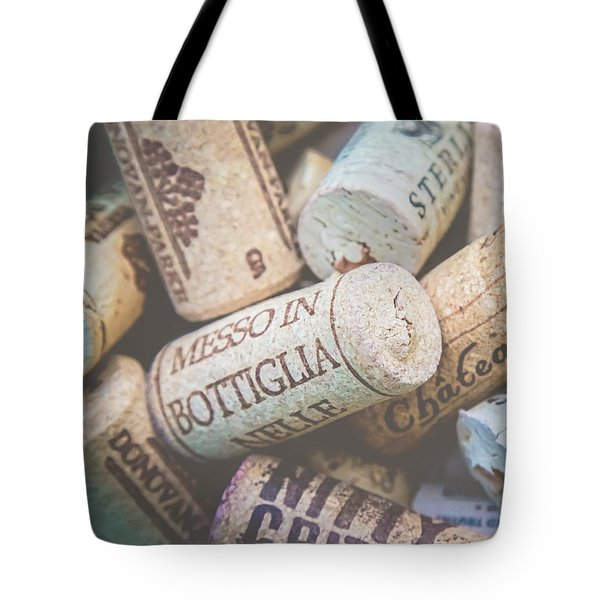 Tote Bag featuring the photograph Wine Corks by April Reppucci