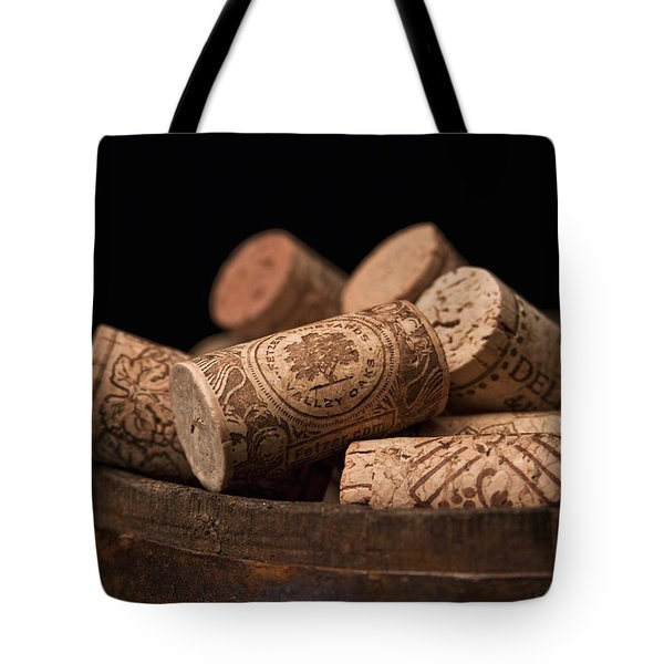 Wine Corks Tote Bag by Tom Mc Nemar