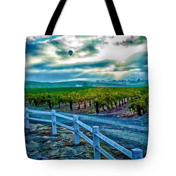 Tote Bag featuring the photograph Wine Country Balloon by Joseph Hollingsworth