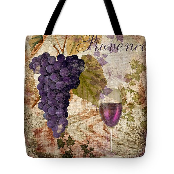 Wine Country Provence Tote Bag by Mindy Sommers
