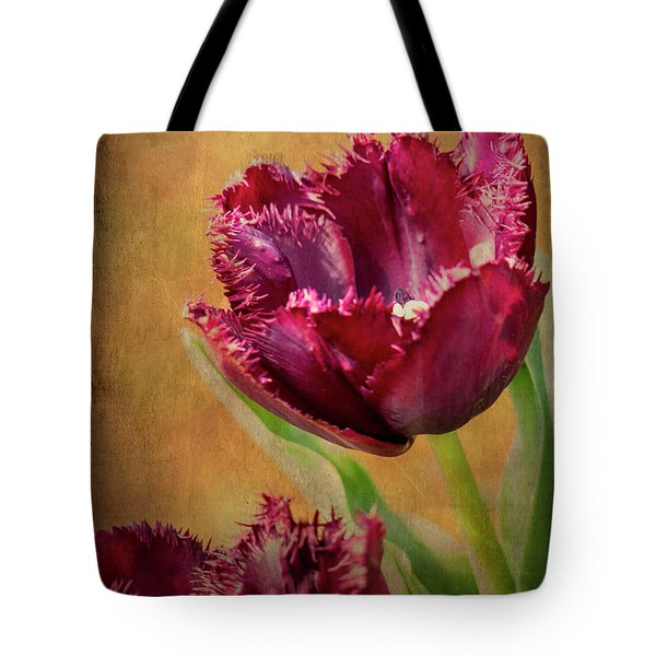 Wine Dark Tulips From My Garden Tote Bag