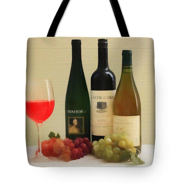 Wine Display Barn Door  Tote Bag by Dan Sproul