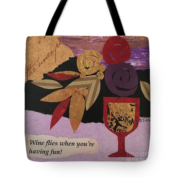 Wine Flies Tote Bag