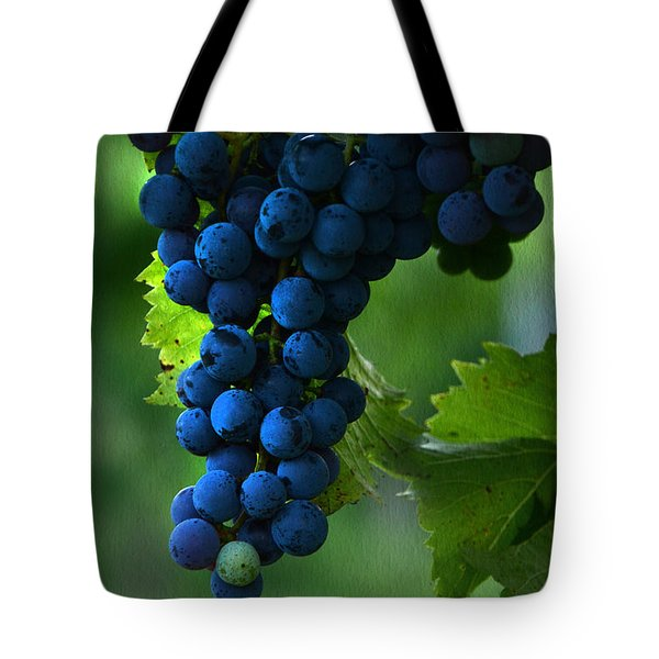 Wine Grapes Tote Bag by Ann Bridges