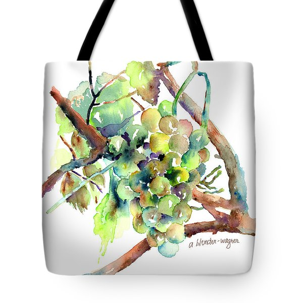 Wine Grapes Tote Bag by Arline Wagner