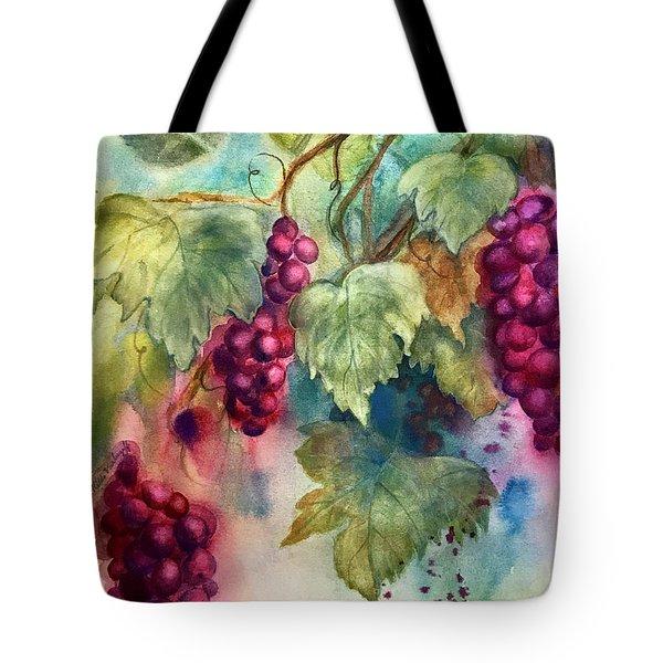Wine Grapes Tote Bag