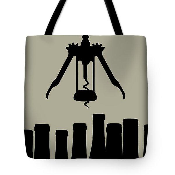 Wine Graphic Silhouette Tote Bag