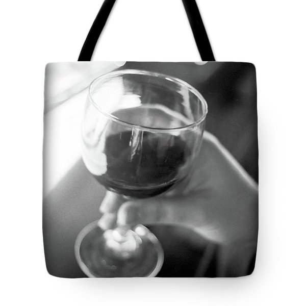 Wine In Hand Tote Bag