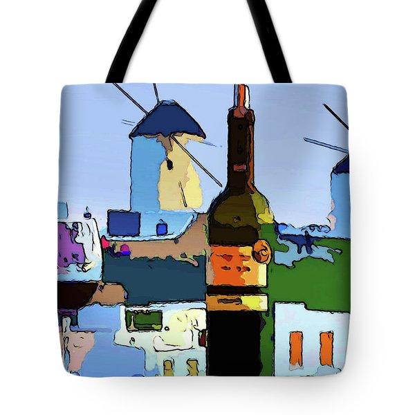 Wine In Mykonos Tote Bag