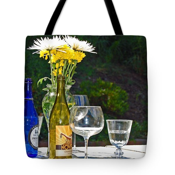 Wine Me Up Tote Bag by Debbi Granruth