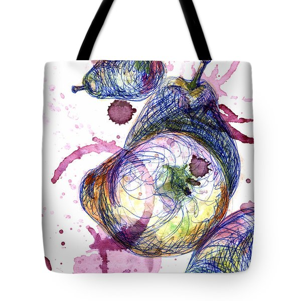 Tote Bag featuring the painting Wine Pearing by Ashley Kujan
