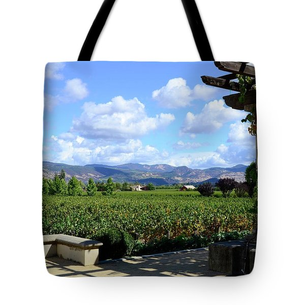 Tote Bag featuring the photograph Wine Please by Corinne Rhode