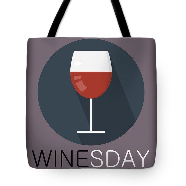 Wine Poster Print - It's Winesday Tote Bag