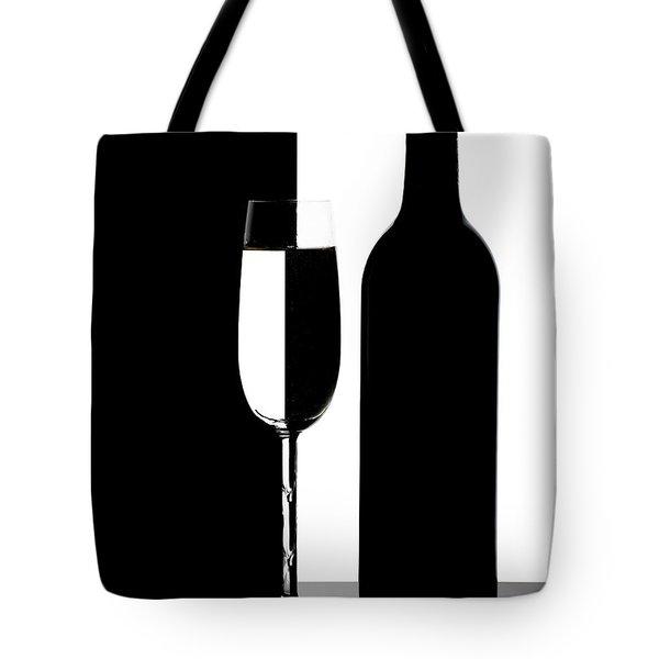 Wine Silhouette Tote Bag by Tom Mc Nemar