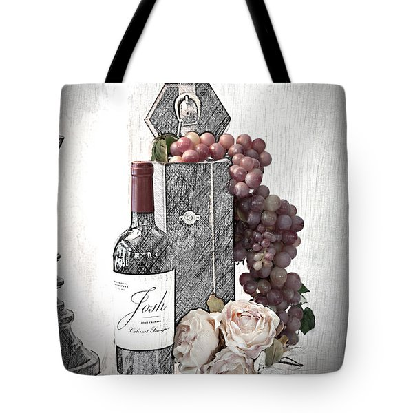 Tote Bag featuring the photograph Wine Tasting Evening by Sherry Hallemeier