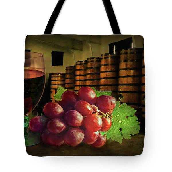 Tote Bag featuring the photograph Wine Tasting by Hanny Heim