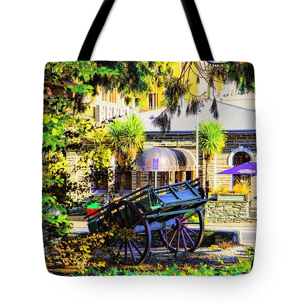 Wine Wagon Tote Bag