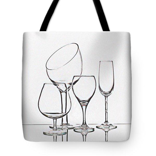 Wineglass Graphic Tote Bag