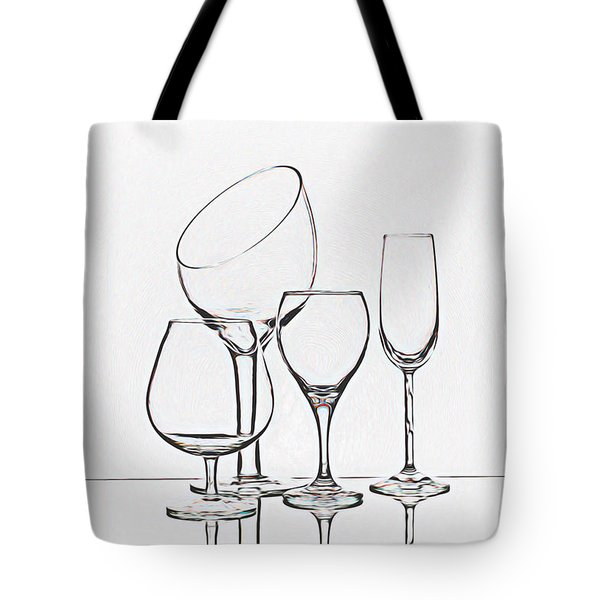 Wineglass Graphic Tote Bag