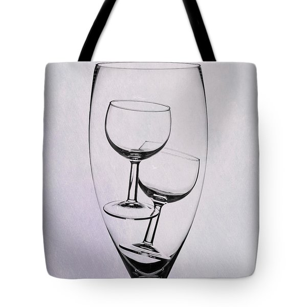 Tote Bag featuring the photograph Wineglass Trio by Tom Mc Nemar