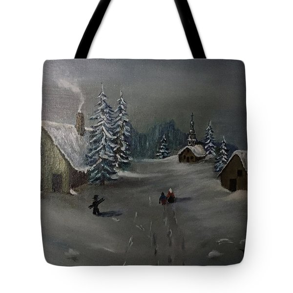 Winter In A German Village Tote Bag