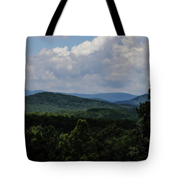 Tote Bag featuring the digital art Winery Hlils by Kathleen Illes