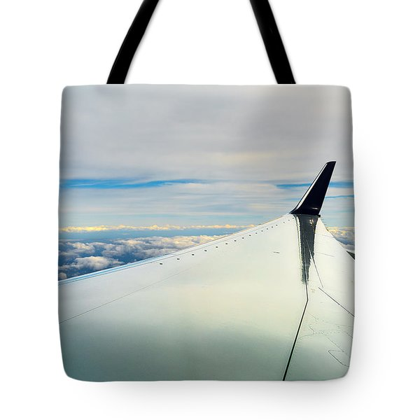 Wing And Clouds Tote Bag