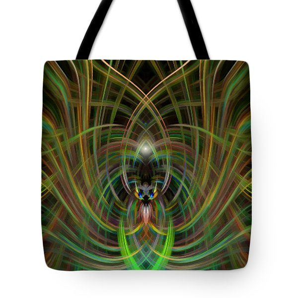Winged Bug Tote Bag by Cherie Duran