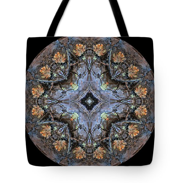 Winged Creatures In A Star Kaleidoscope #1 Tote Bag
