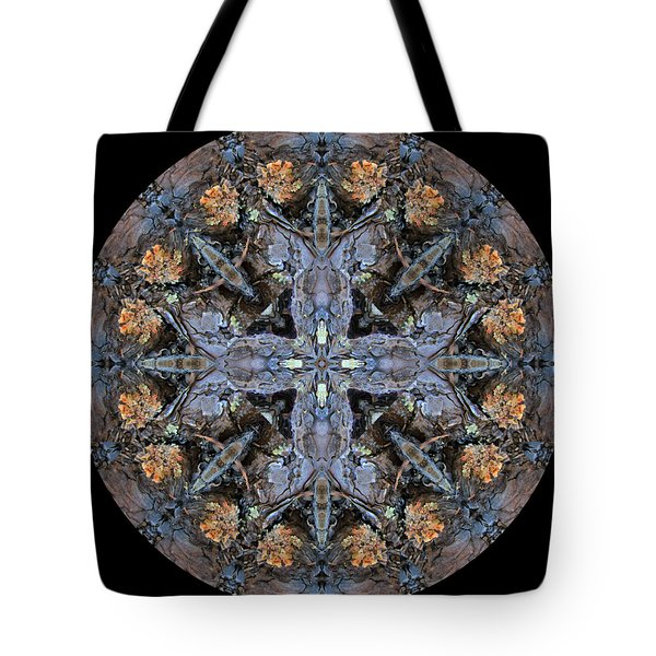 Winged Creatures In A Star Kaleidoscope #3 Tote Bag