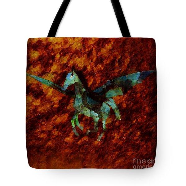 Winged Horse By Sarah Kirk Tote Bag
