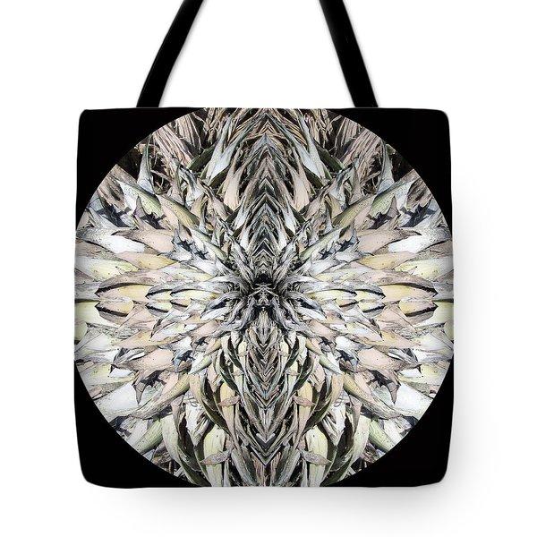 Winged Praying Figure Kaleidoscope Tote Bag