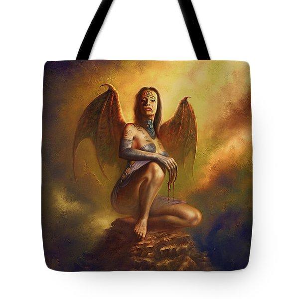 Winged Vamp Tote Bag