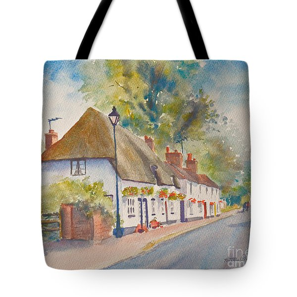Tote Bag featuring the painting Wingham Nr.canterbury by Beatrice Cloake