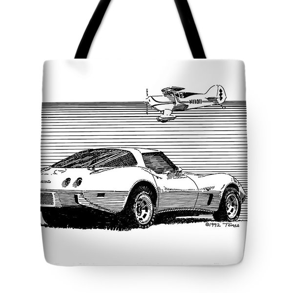 Wings And Wheels - Art By Bill Tomsa Tote Bag