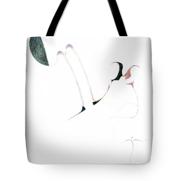 Tote Bag featuring the drawing Wings by James Lanigan Thompson MFA