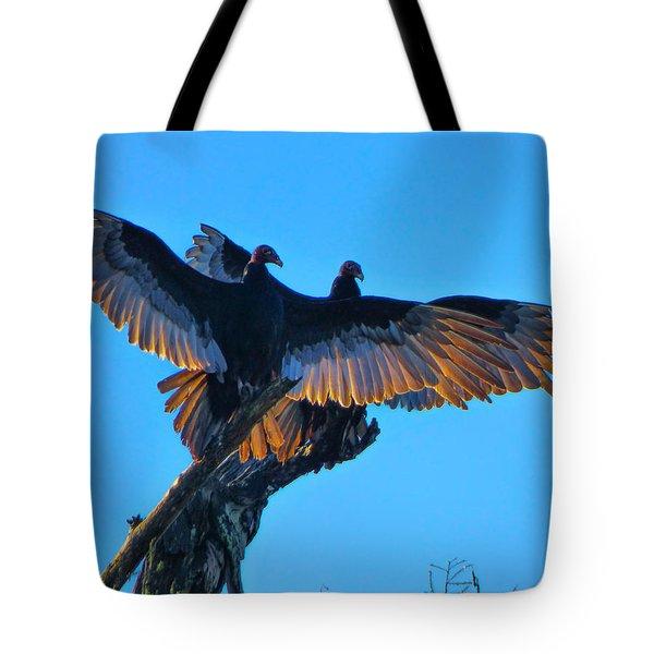 Wings Of Gold Tote Bag