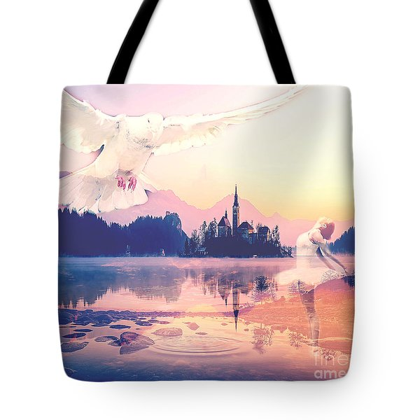 Wings Of Grace Tote Bag