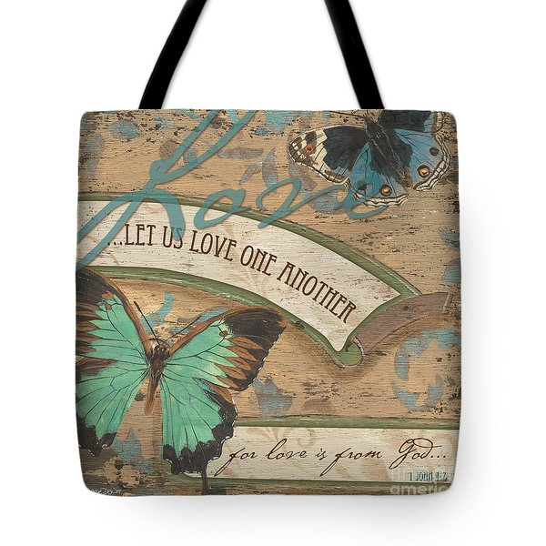 Wings Of Love Tote Bag by Debbie DeWitt