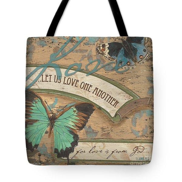 Wings Of Love Tote Bag