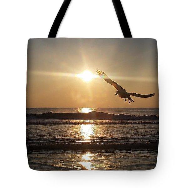 Wings Of Sunrise Tote Bag