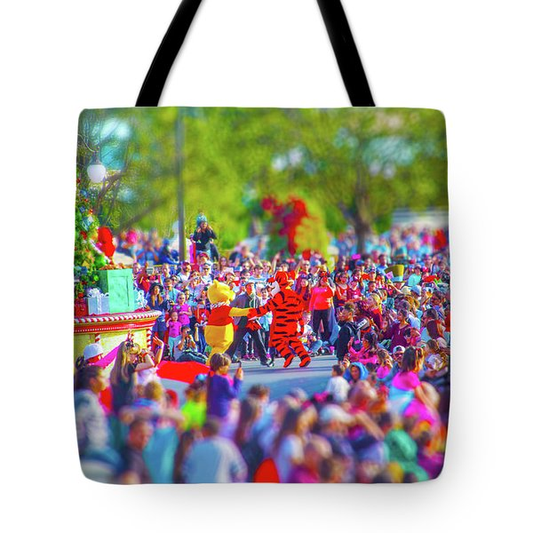 Tote Bag featuring the photograph Winnie The Pooh And Tigger by Mark Andrew Thomas