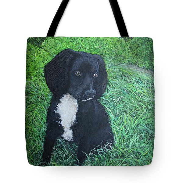 Tote Bag featuring the painting Winnie by Tom Roderick