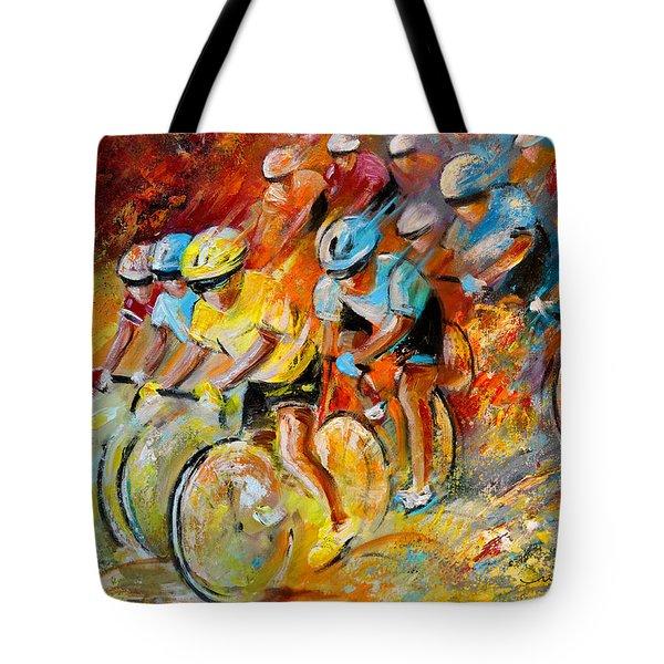Winning The Tour De France Tote Bag