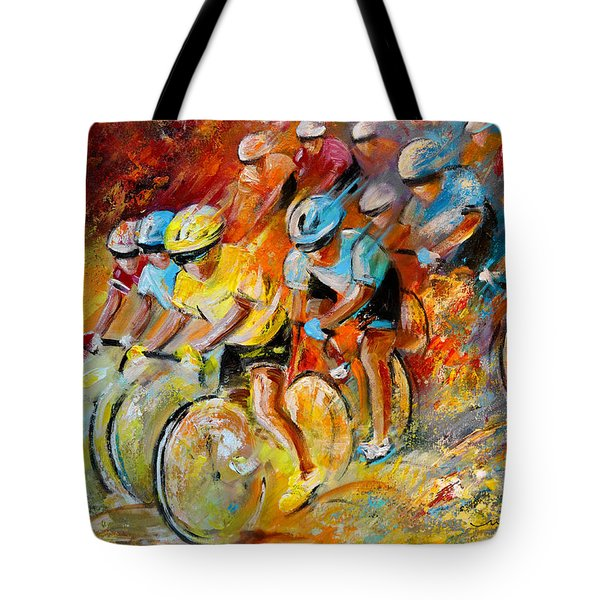 Winning The Tour De France Tote Bag